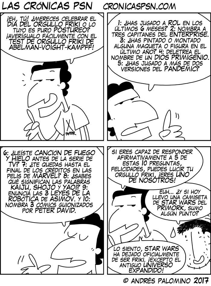 CPSN: ORGULLO O POSTUREO