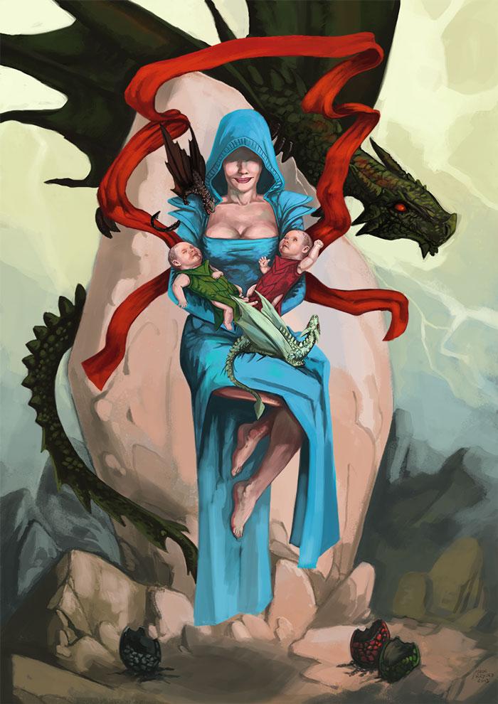 Fanart: Luli Madre de Dragones