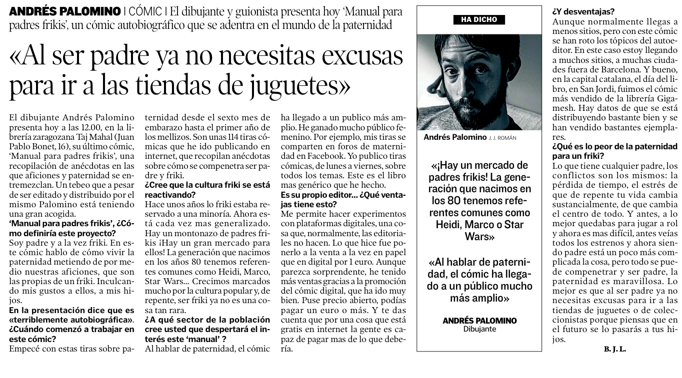 Entrevista Andrés Palomino Heraldo Aragón