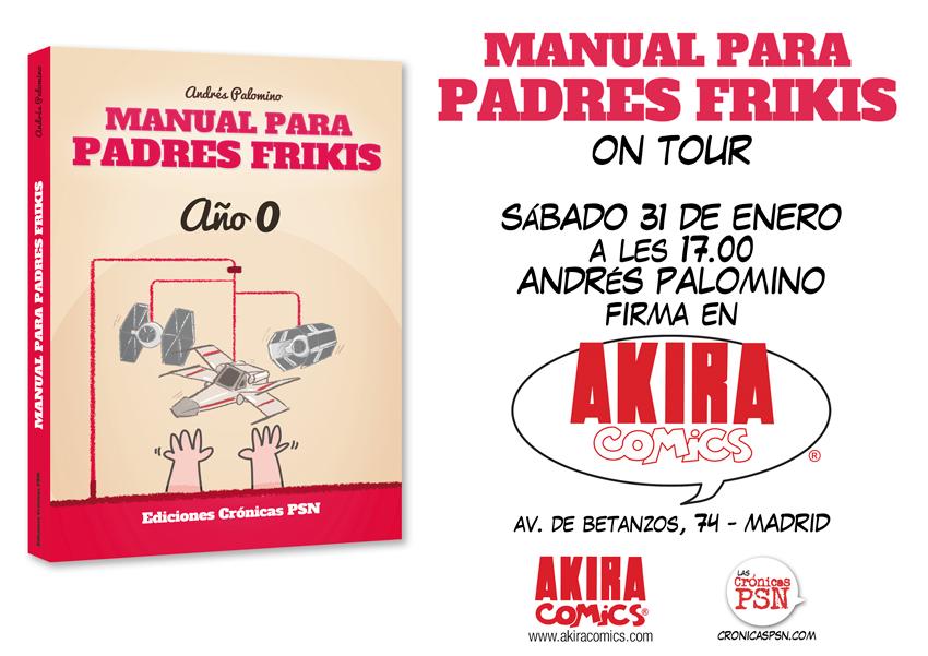 Firmas MANUAL PADRES FRIKIS en AKIRA COMICS MADRID