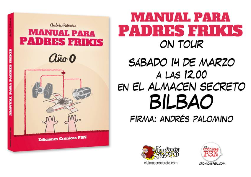 Manual padres frikis Almacén Secreto Bilbao