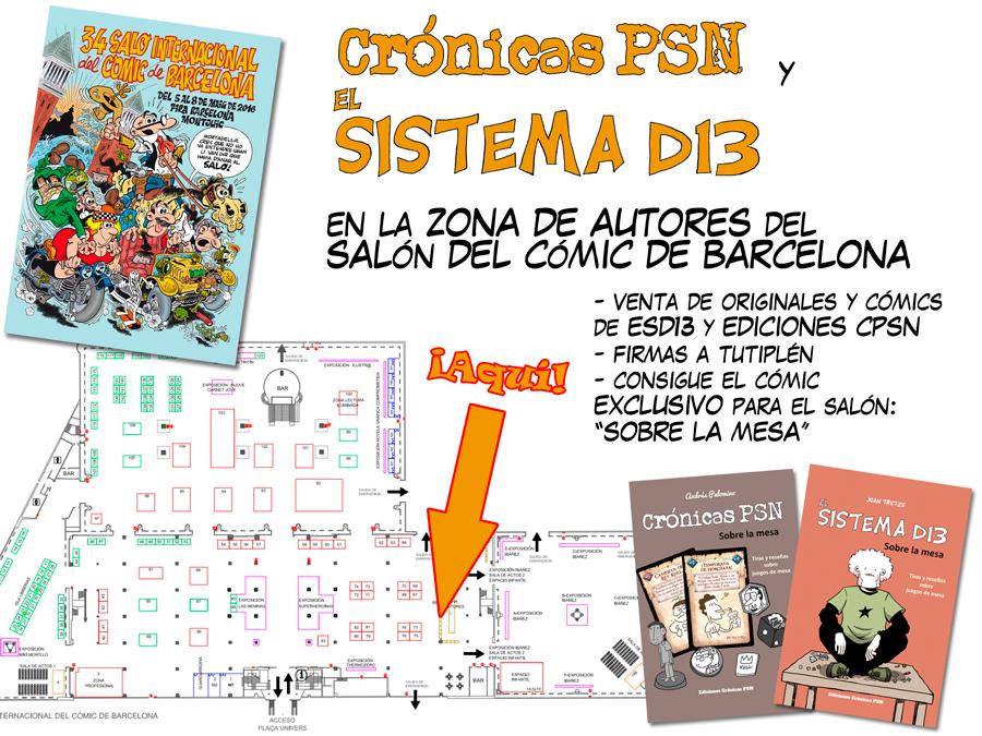 SD13 y CPSN en el salón del cómic