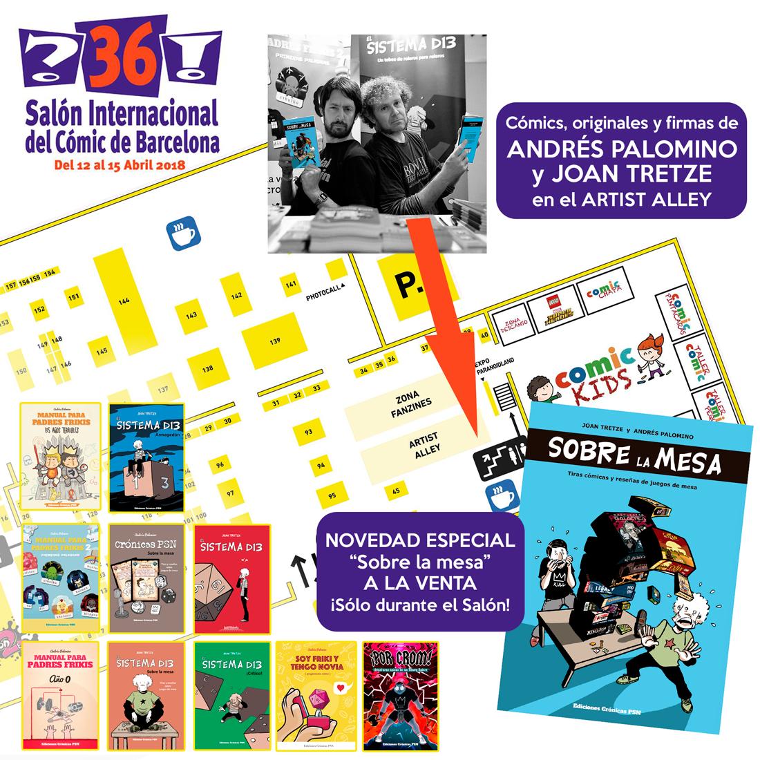 Crónicas PSN y El Sistema d13 en el salón del cómic de barcelona