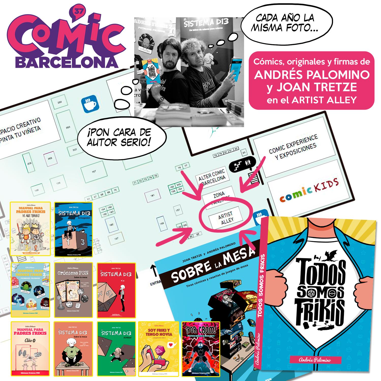 crónicas psn y el sistema d13 en comic barcelona 37